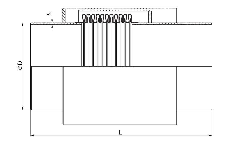 Компенсатор сильфонный стартовый ССК - схема
